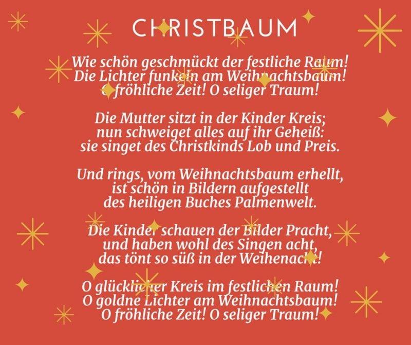 Gedichte für Weihnachten - Christbaum