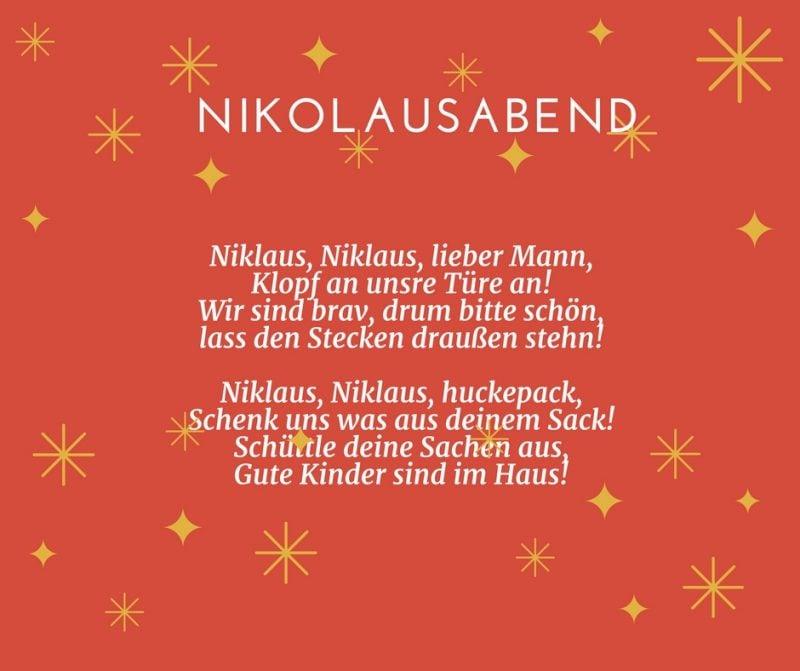 Gedichte für Weihnachten - Nikolausabend