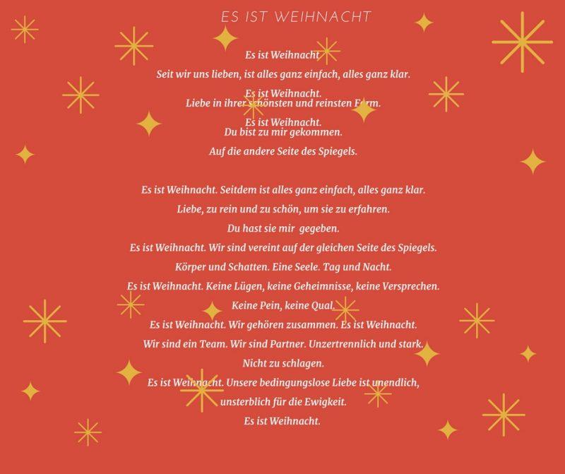 Gedichte für Weihnachten - Es ist Weihnacht