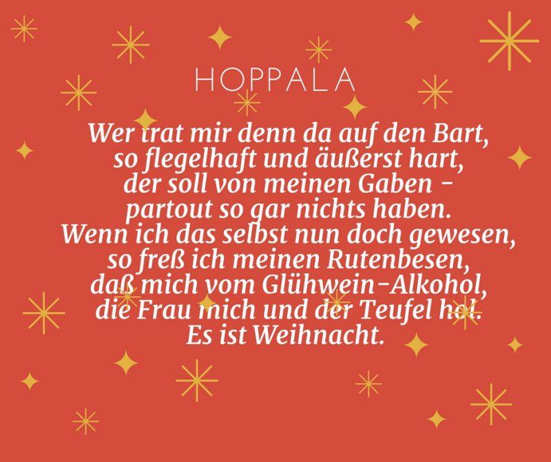 Gedichte für Weihnachten - Hoppala