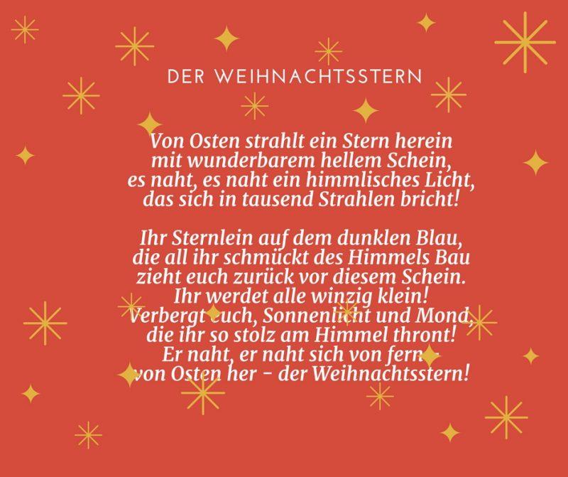 Gedichte für Weihnachten - Der Weihnachtsstern