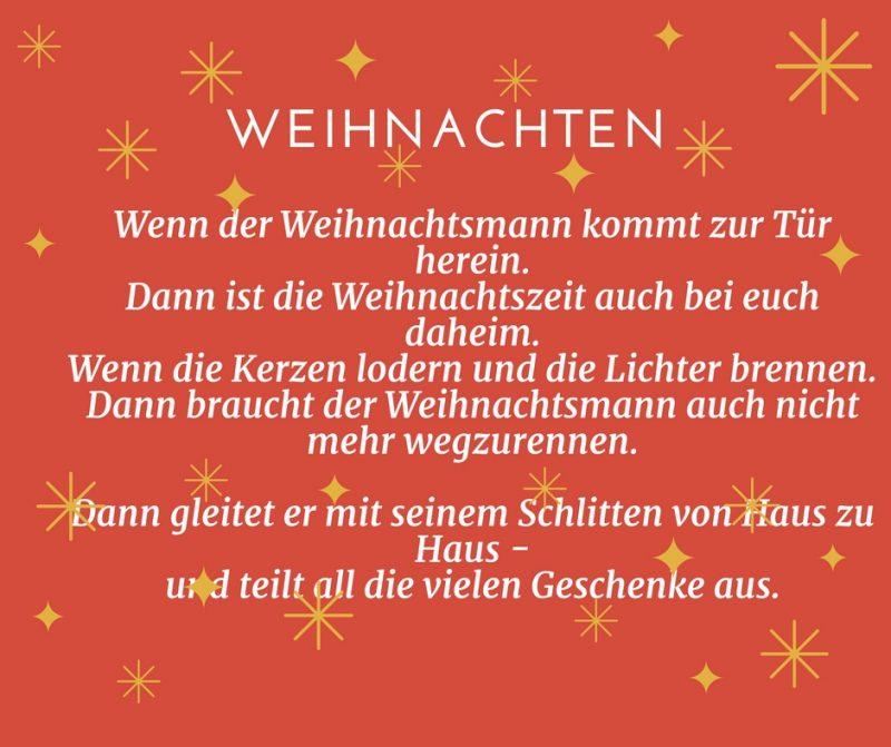 Weihnachtsmann gedichte kurz und lustig