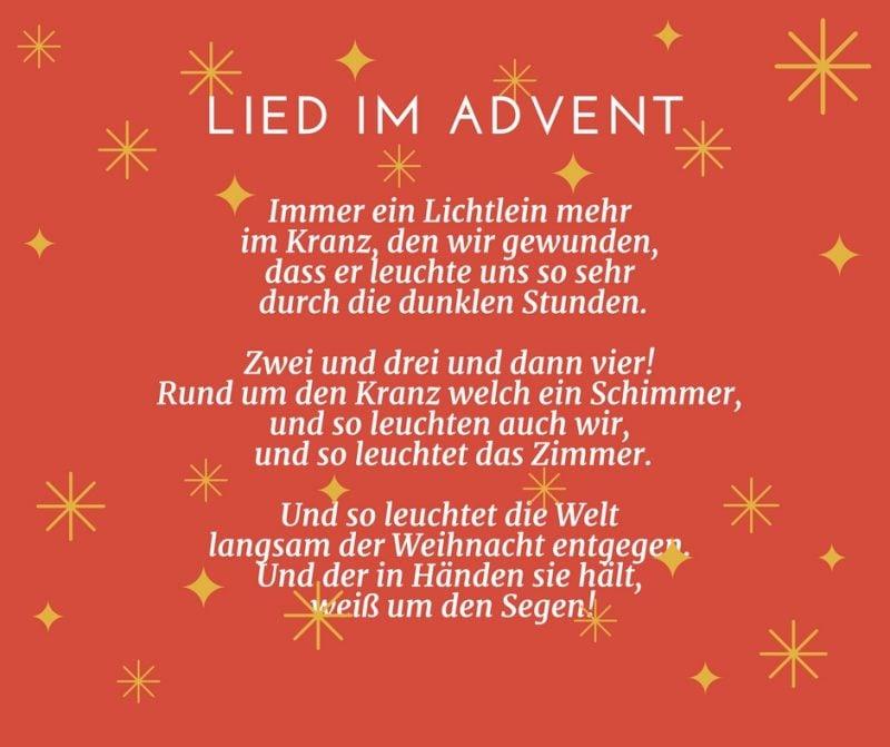 Gedichte für Weihnachten - Lied im Advent