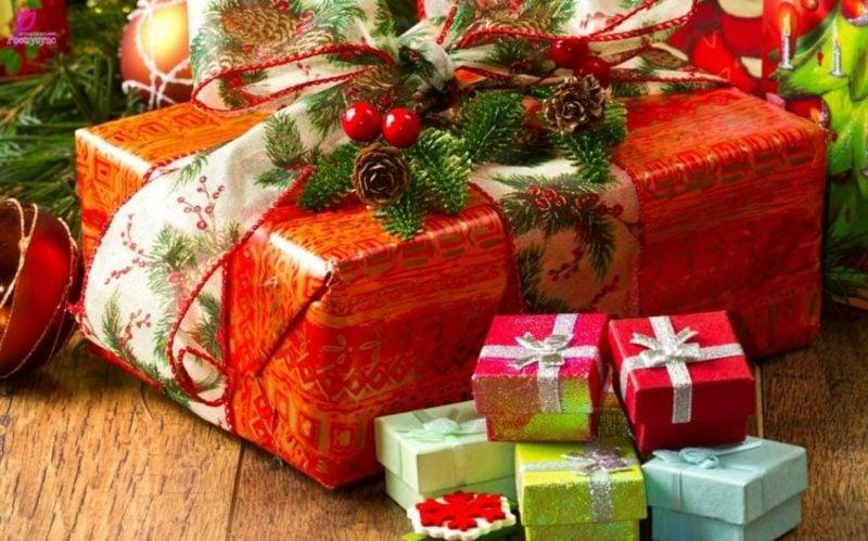 Weihnachtsgeschenke zauberhafter Look