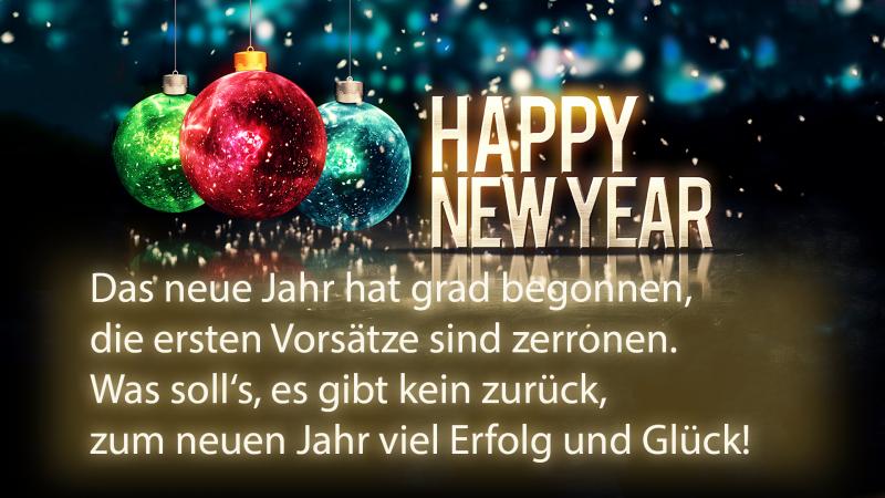 Weihnachts- und Neujahrwünsche das Neujahrbeginn feiern