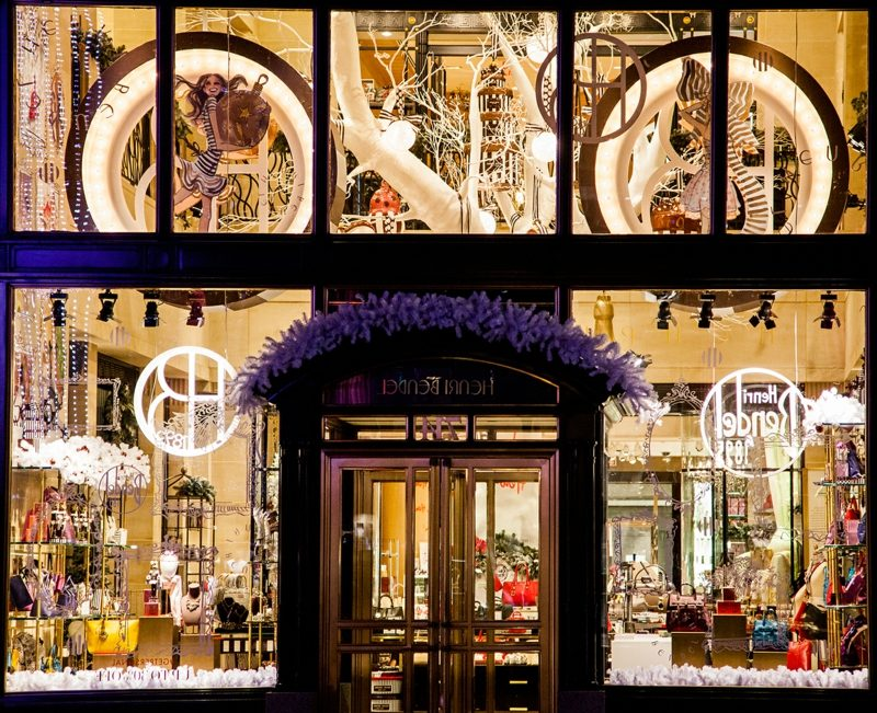 henri bendel holiday windows