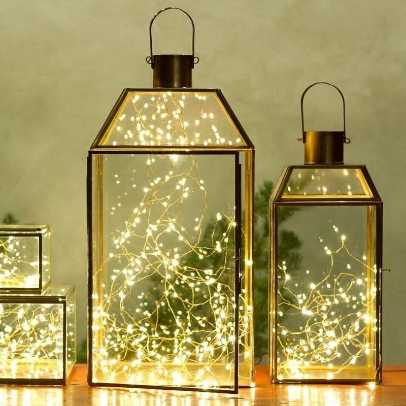 Dekoideen zu Weihnachten Laternen Lichterketten