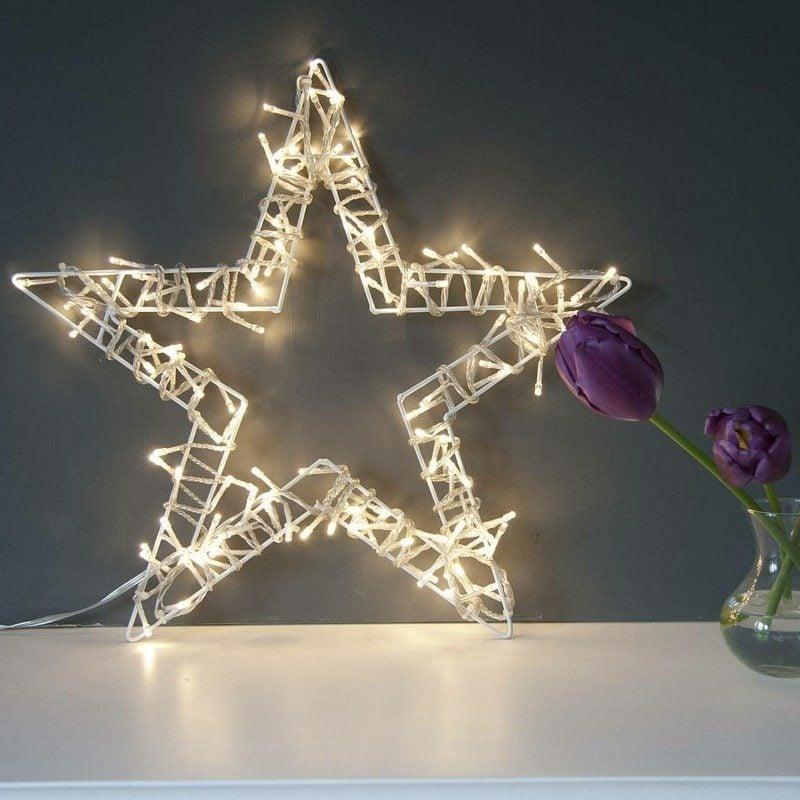 Dekoideen zu Weihnachten Innenbereich Lichterketten