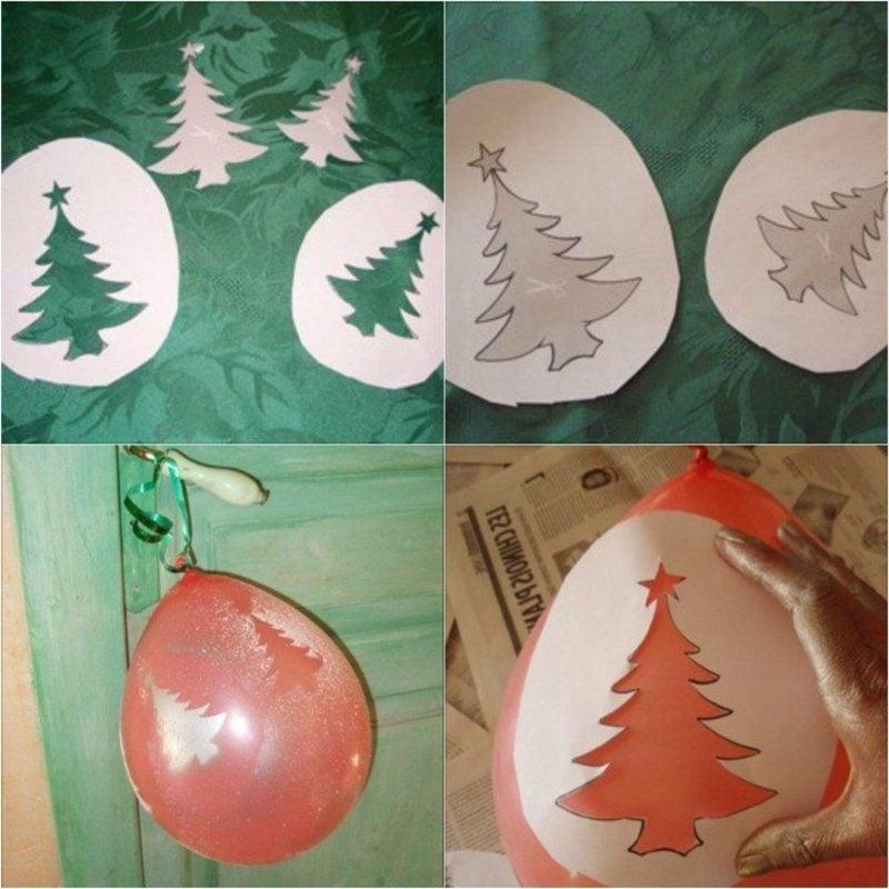 Luftballons mit Kunstschnee dekorieren Bilderanleitung