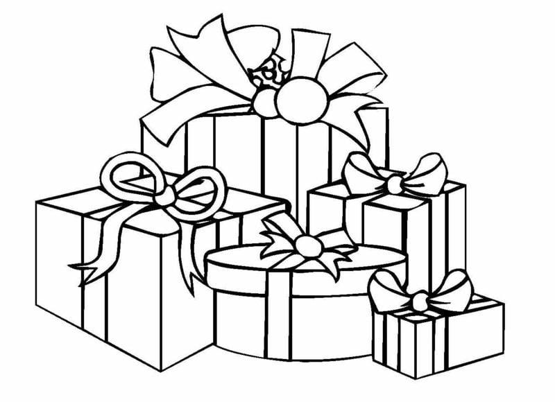 Ausmalbilder zu Weihnachten Geschenke