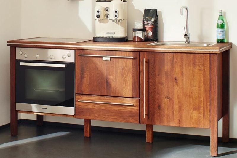 modulare Küche aus Massivholz