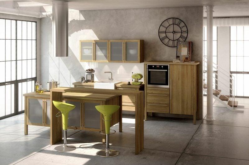 moderne Modulküche Massivholz