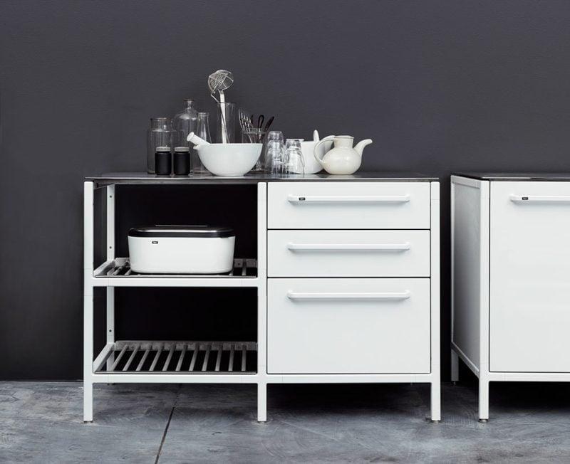 Küchenmodul im Weiss elegantes Design