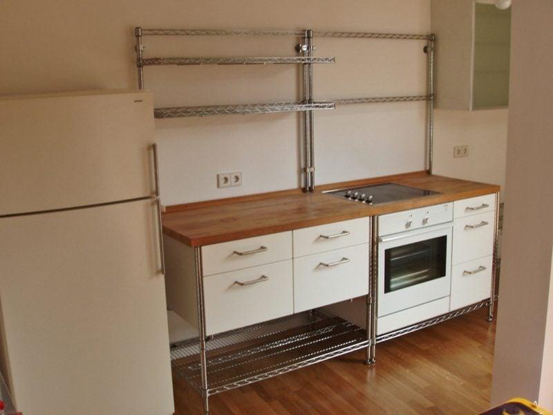 modulare Küche Retro Look
