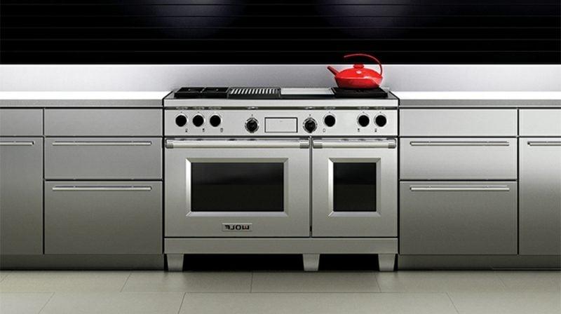 moderne modulare Küche Edelstahl