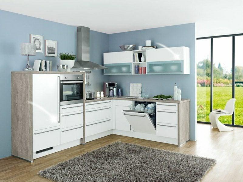 moderne modulare Küche im Weiss
