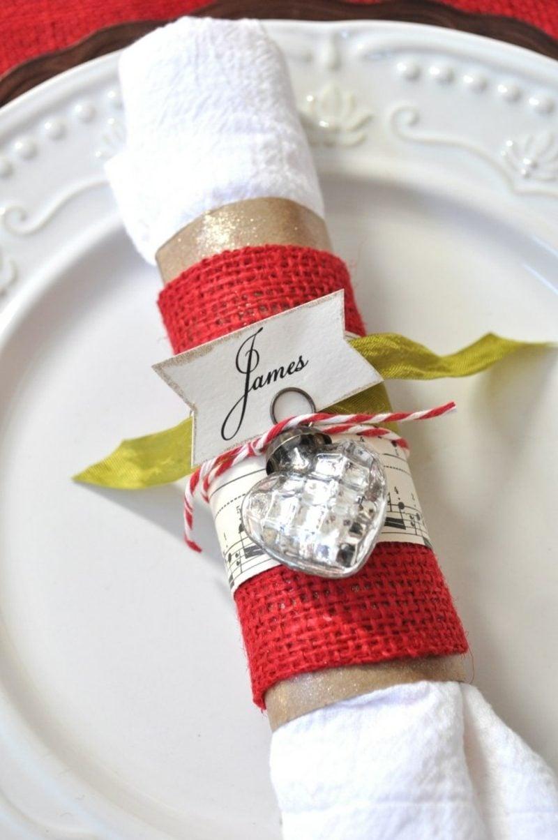 Servietten falten zu Weihnachten originelle Ideen