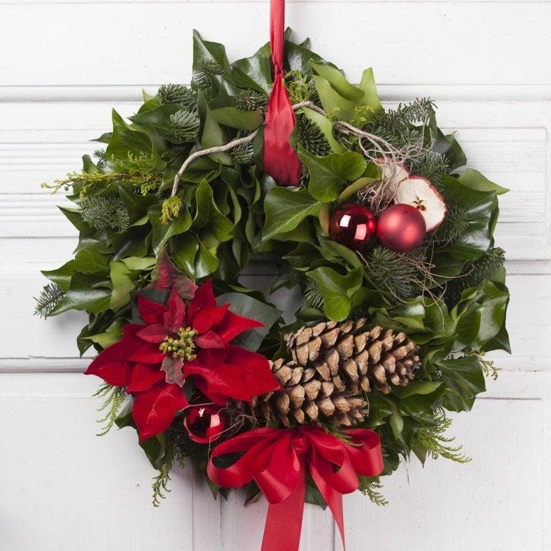 Dekoideen zu Weihnachten Türkranz