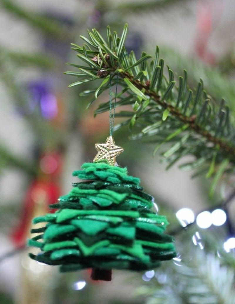 Bastelanleitungen zu Weihnachten Tannenbaum aus Filz