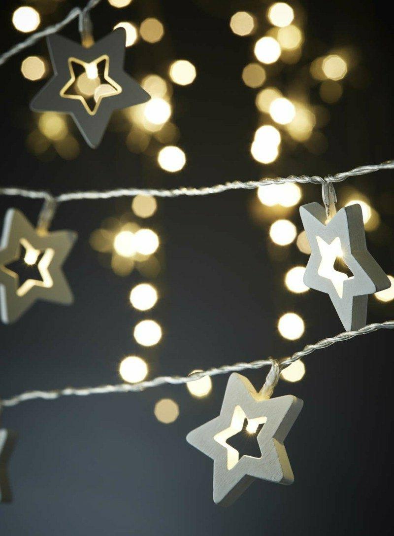 Dekoideen zu Weihnachten Lichterketten