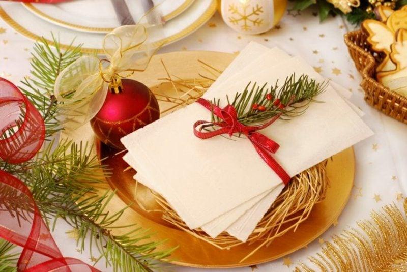 Tischdeko zu Weihnachten kreative Ideen
