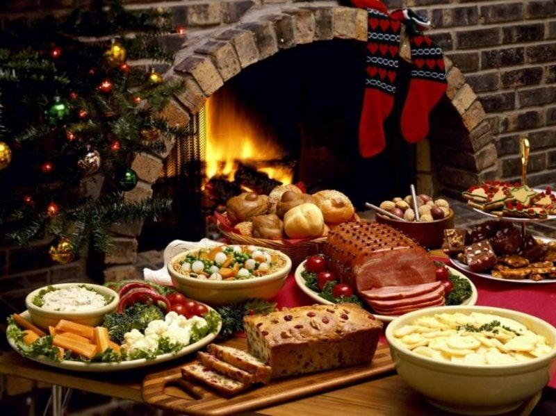 festliches Weihnachtsessen