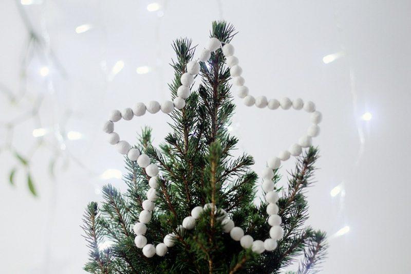Basteln zu Weihnachten mit Kindern Stern für die Baumspitze