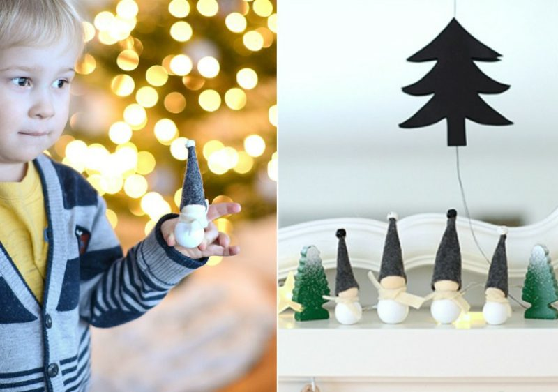 Basteln zu Weihnachten mit Kindern kreative Dekoideen mit Holzperlen