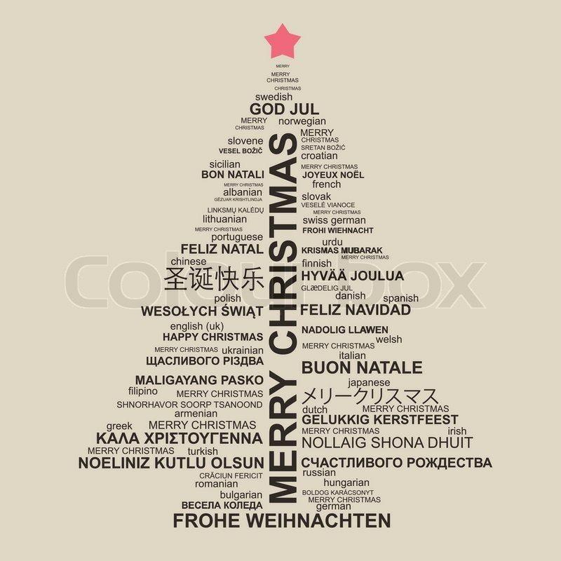 mehrsprachiger Weihnachtsbaum