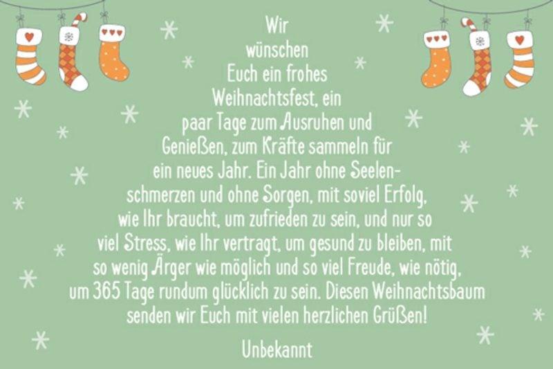 weihnachtliche Sprüche vom unbekannten Autor