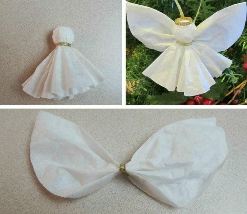 Bastelanleitungen zu Weihnachten Engelchen aus Papier selber machen