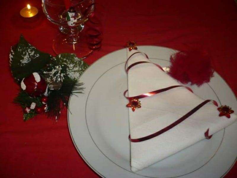 Entzuckend Servietten Falten Zu Weihnachten Tannenbaum Weisse Stoffserviette