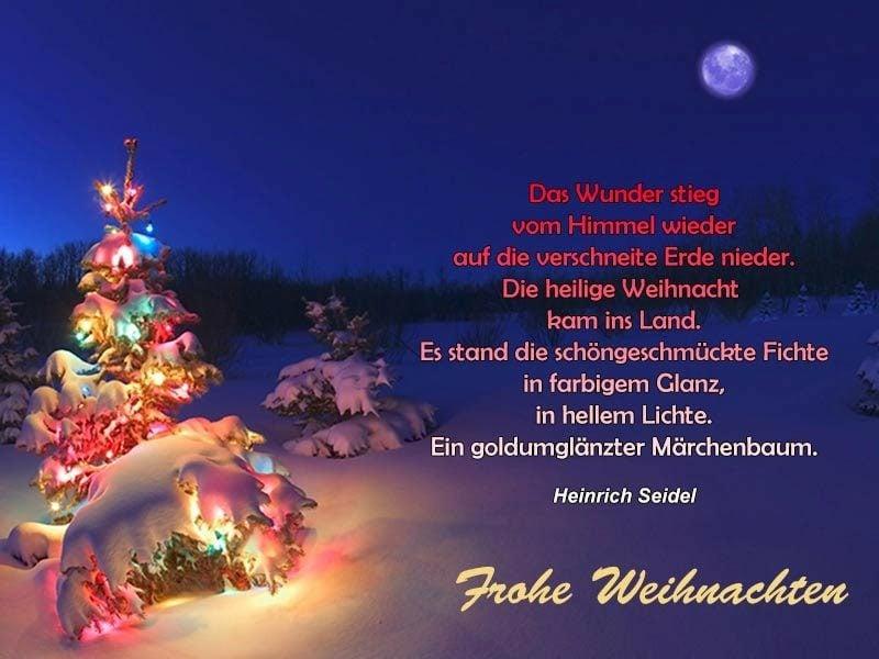 weihnachtliche Sprüche in Versen Heinrich Seidel