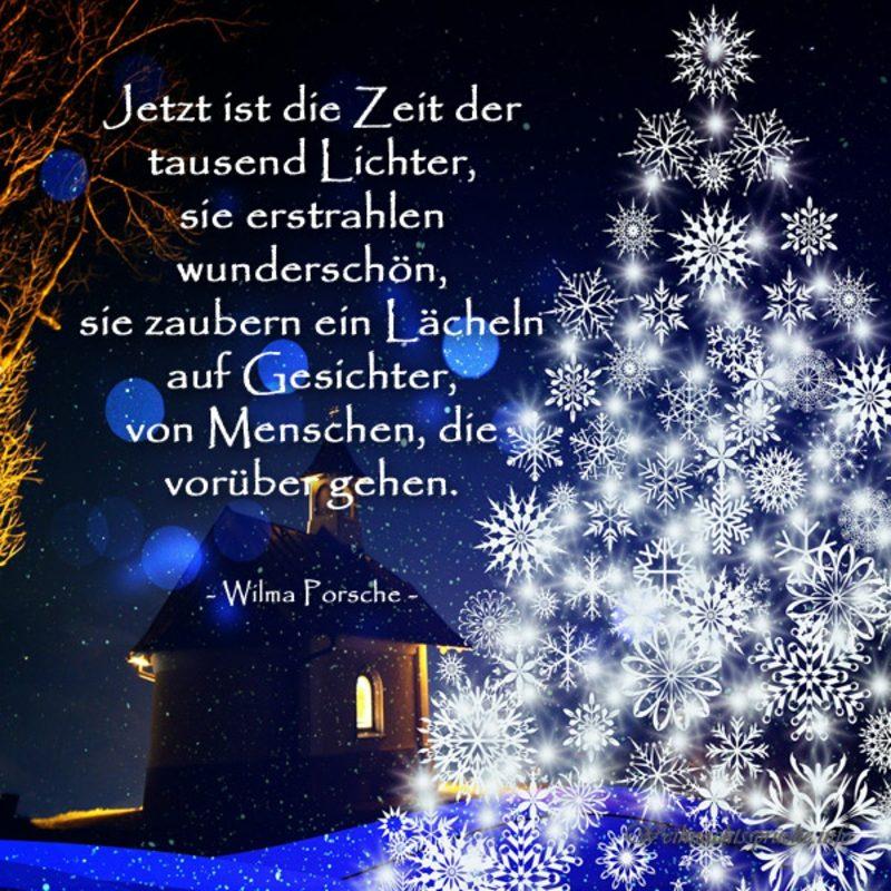 weihnachtliche Sprüche von Wilma Porsche