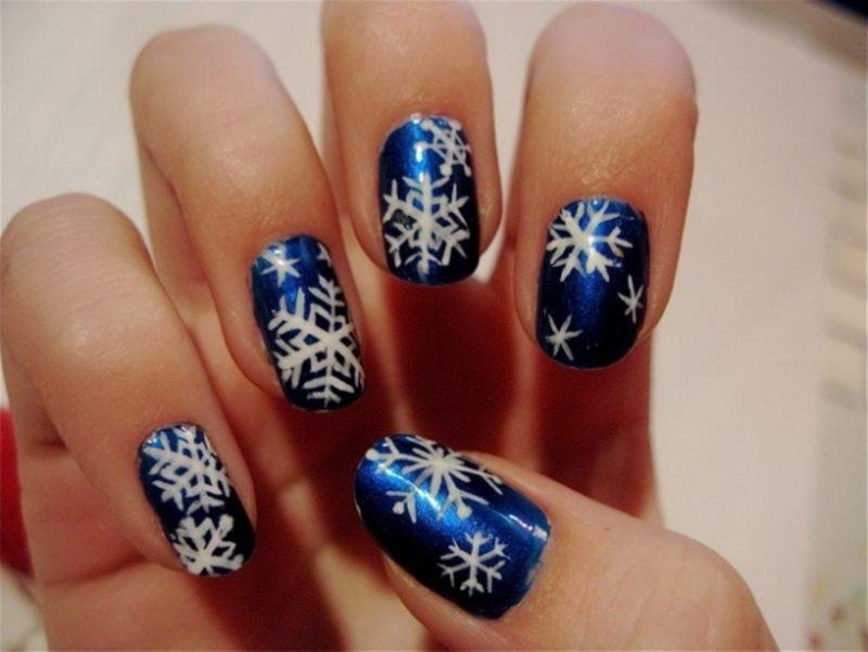 Ideen für Wintermotive für schöne Fingernägel Rentiere diy