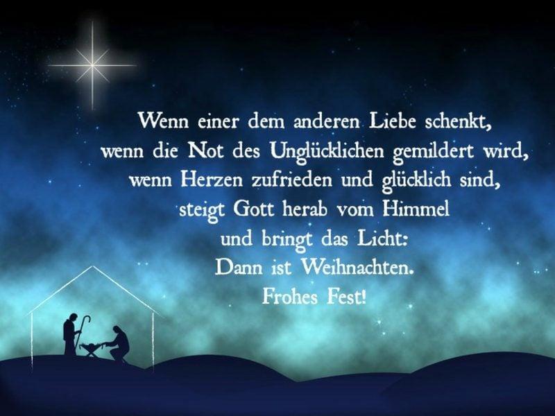 Weihnachtsglückwunsch christlich