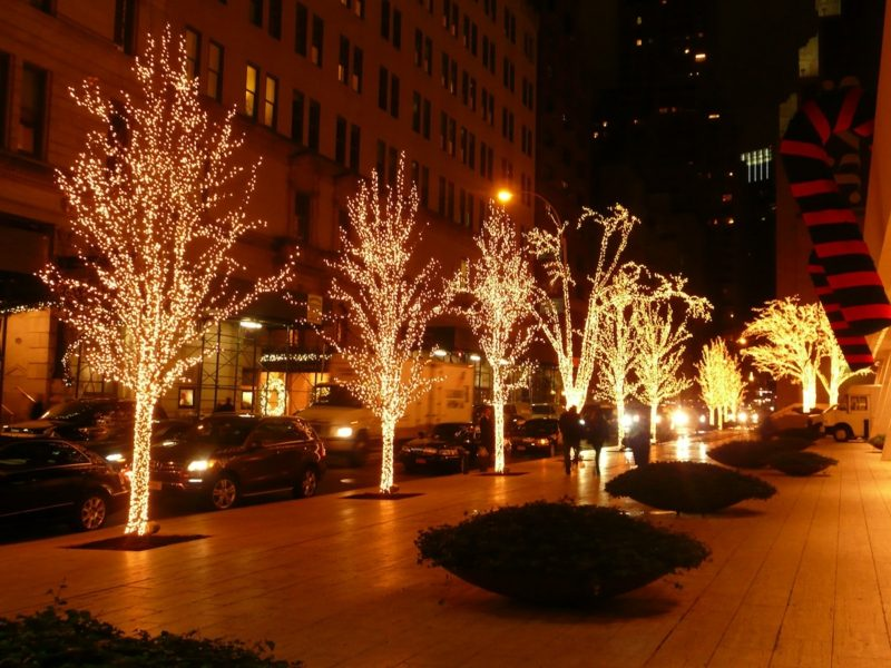 christmas lightening at 58th street
