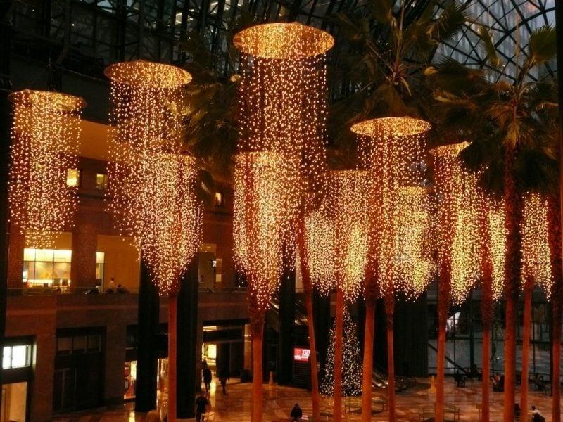 christmas lightening winter garden