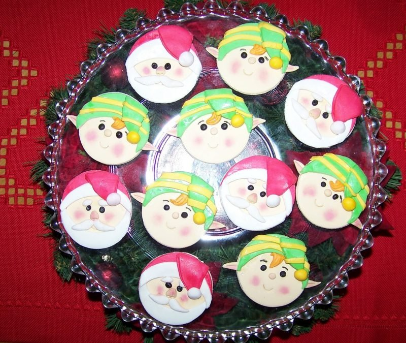 coole weihnachts cupcakes