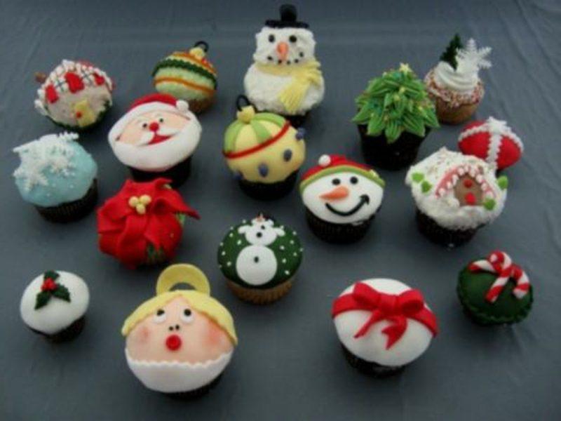 coole weihnachts cupcake weihnacht assortiert cupcakes