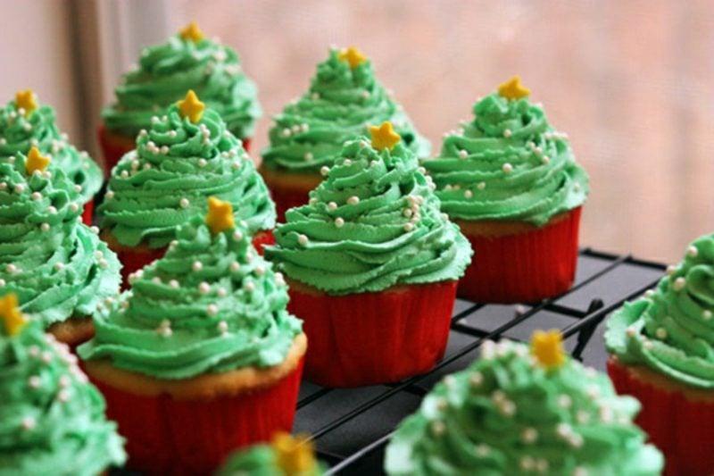 coole weihnachts cupcakes rezepten fur weihnachten weihnachtsbaume cupcakes