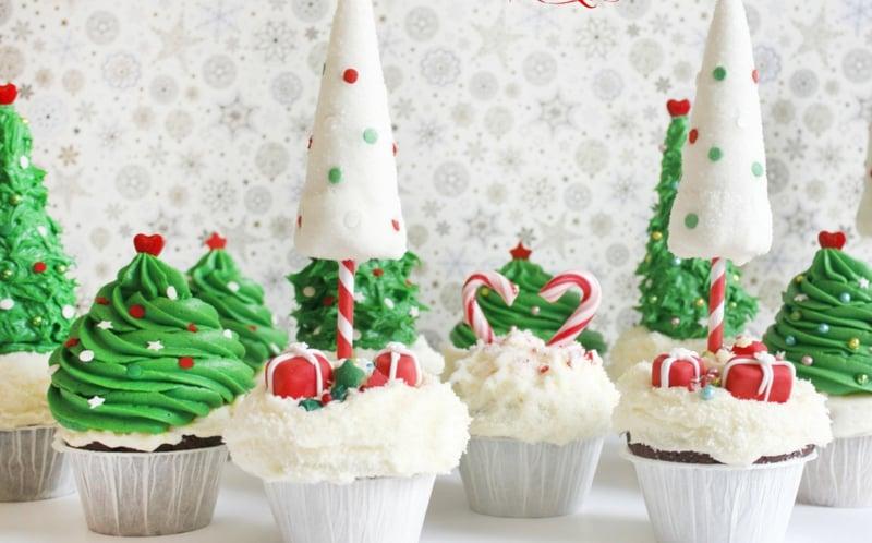 Coole Weihnachtsrezepte für Cupcakes