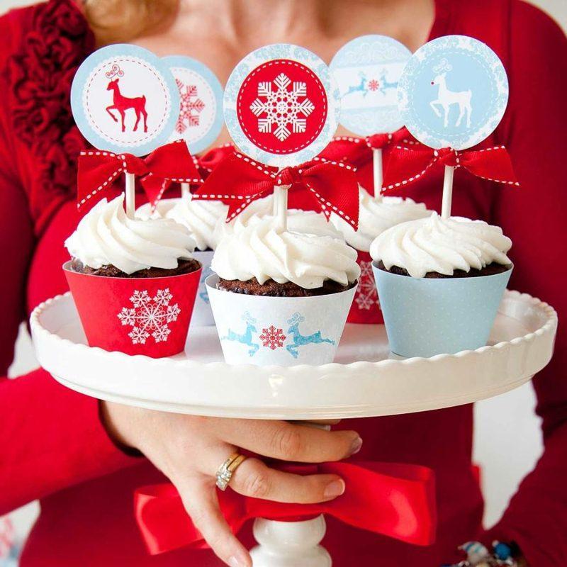 coole weihnachts cupcakes weihnachten ideen dekorative etikette cupcakes