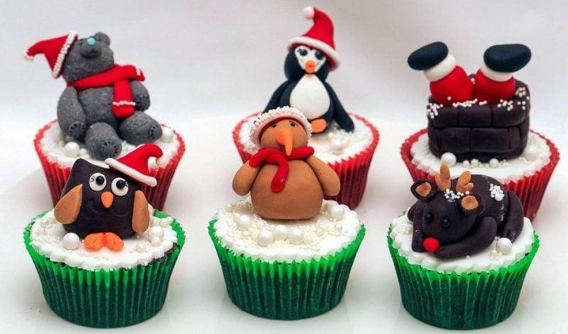 coole weihnachts cupcakes weihnachten ideen suesse tiere cupcakes