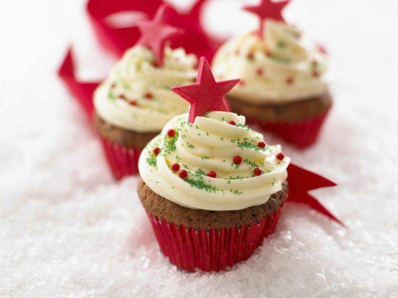 coole weihnachts cupcakes zu weihnachten cupcakes