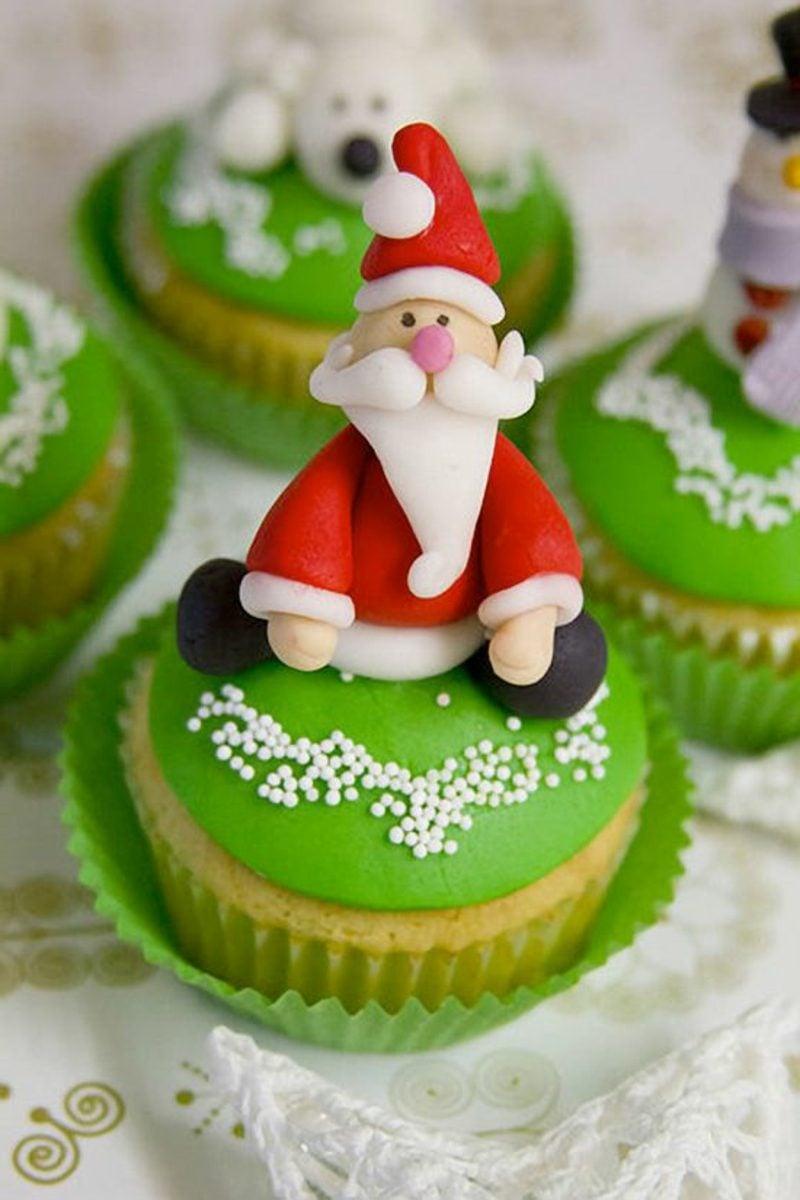 coole weihnachts gruene cupcakes