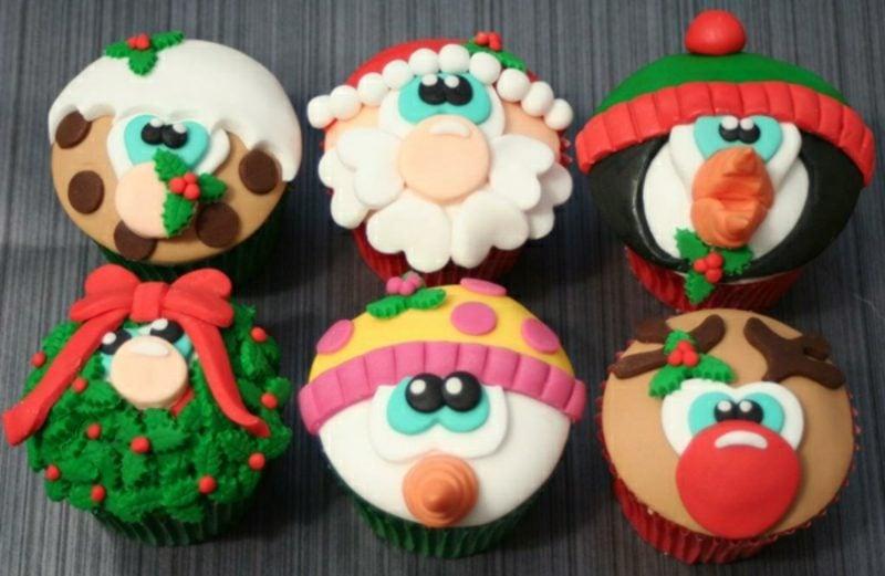 coole weihnachts tolle ideen fur weihnachtscupcakes cupcakes fur weihnachten verzieren