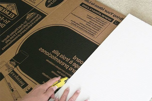 Dekokamin aus Pappe Anleitung aus Karton