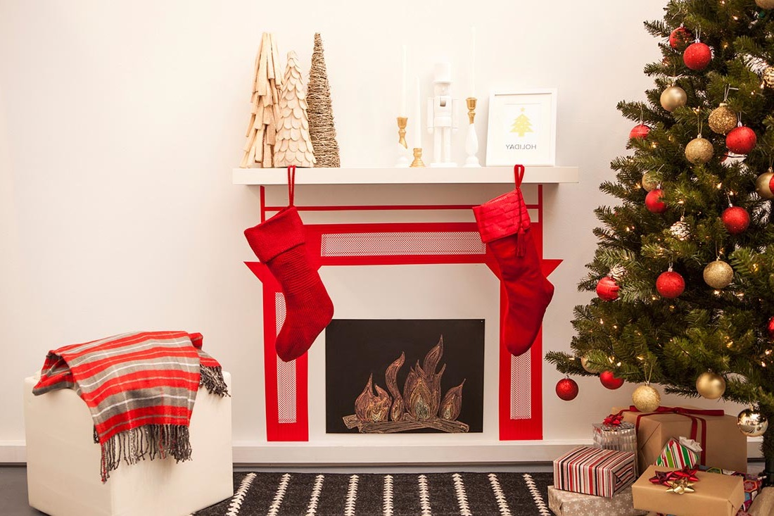 Wohnideen Zum Basteln weihnachten am kamin dekokamin aus pappe basteln diy
