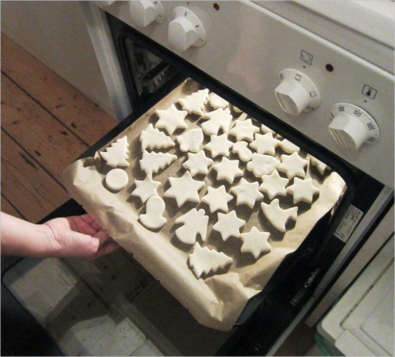 Bastelanleitungen zu Weihnachten Figuren aus Salzteig im Ofen backen